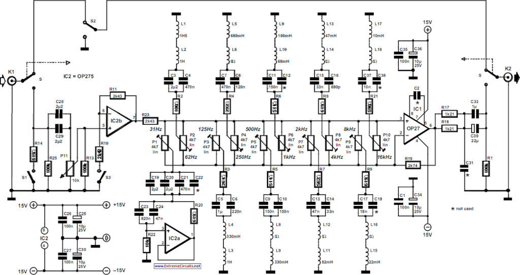 equalizer circuit page 2 : audio circuits :: next.gr, Circuit diagram