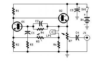 1KHZ Sine Wave Generator Circuit - schematic