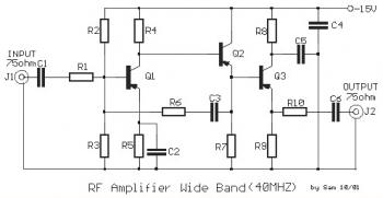40mhz rf amplifier circuit