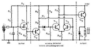 Flame gas and smoke detector - schematic