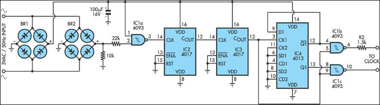 Building A Synchronous Clock - schematic