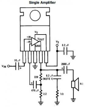 7W Mini Audio Amplifier Circuit based LM383
