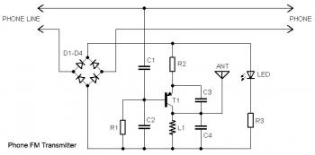 home telephone fm transmitter circuit