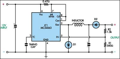 Cheap Switch-Mode DC-DC Converter - schematic