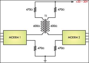 How To Connect Two Computers Using Modems - schematic