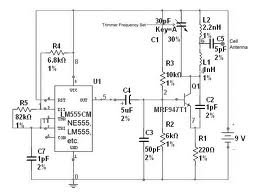 Jammer Circuit Using 555 Timer - schematic