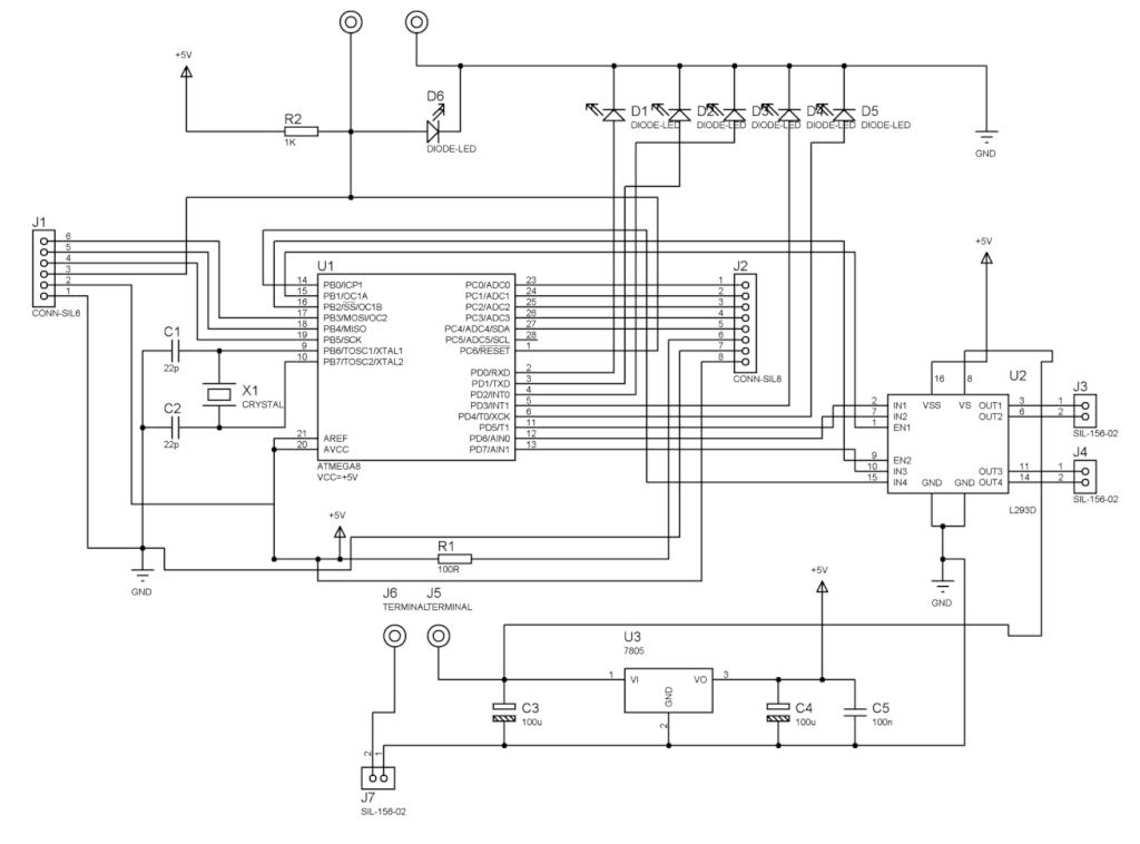 Line Following Robot - schematic