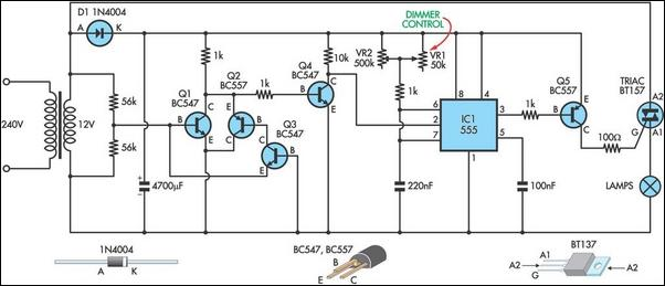 Model Theatre Lighting Dimmer - schematic
