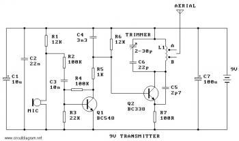 9V FM Radio Transmitter - schematic
