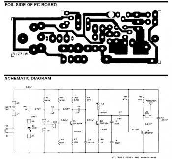 FM Wireless Microphone - schematic