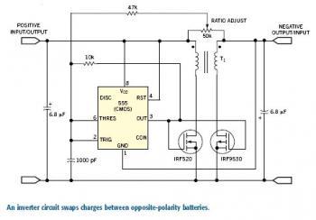 bidirectional power inverter - schematic