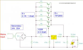 12v 30a regulated power supply