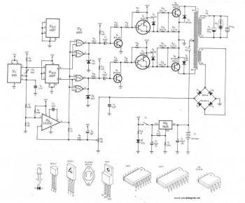 300Watt Inverter DC 24V to AC 220V - schematic