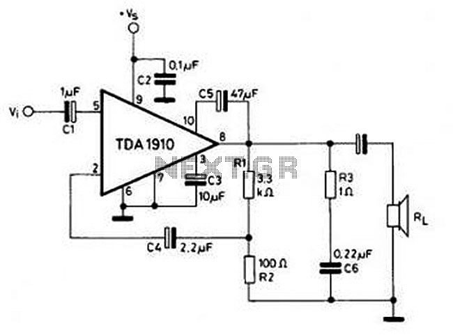 u0026gt  circuits  u0026gt  lm2876 40w audio power amplifier circuit
