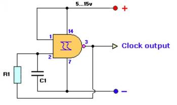 clock generator circuit - schematic