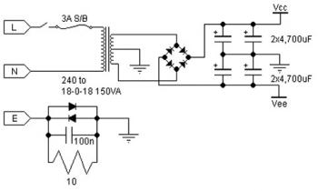 Class AB Power Amplifier Circuit 30w Using Power Transistor