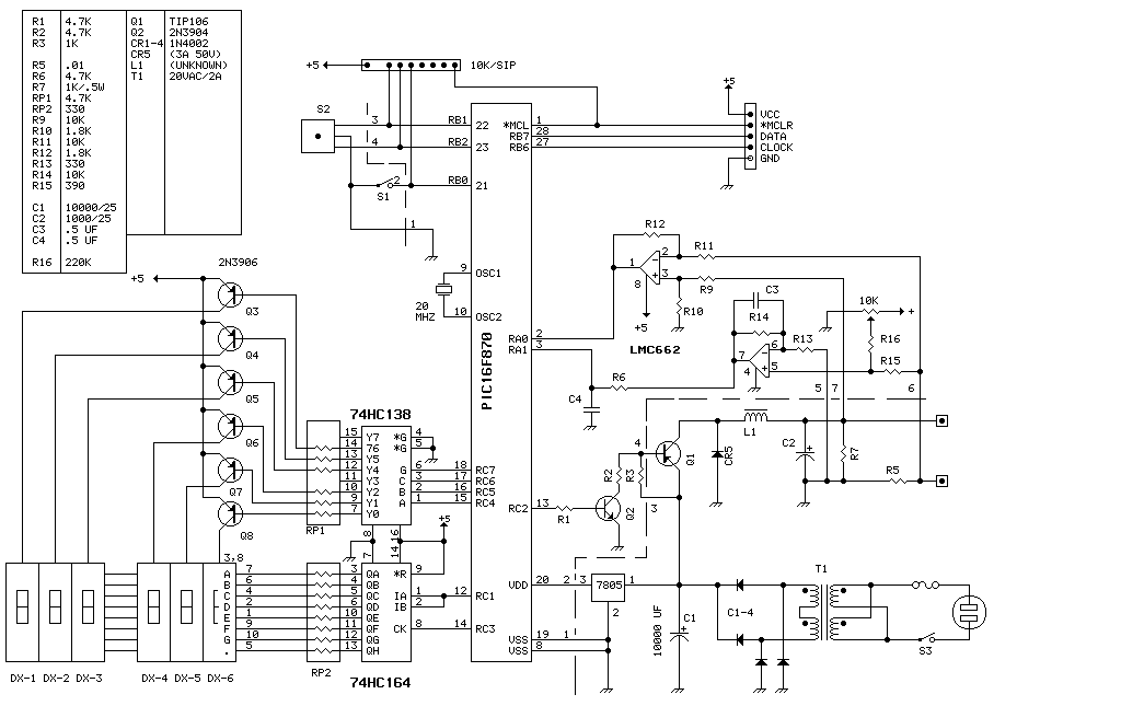 Microcontrolled Lab Power Supply - schematic