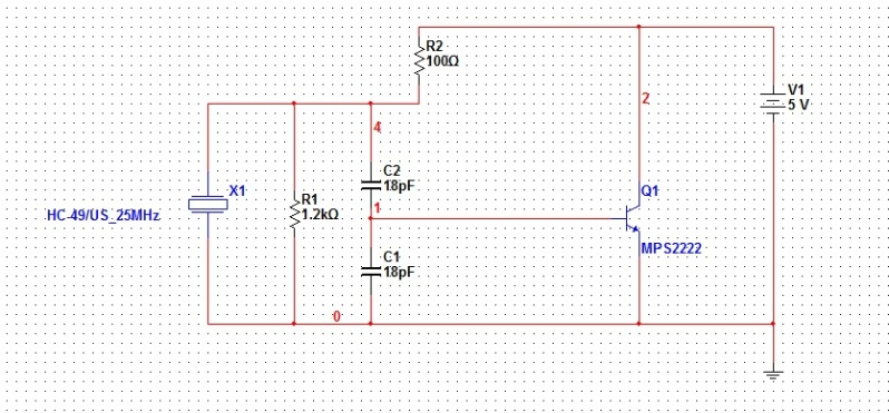 colpitts osc not working - schematic