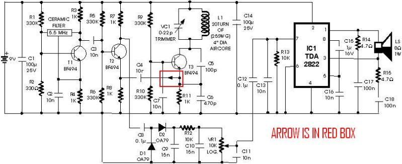 metal detector circuit page 4   sensors detectors circuits