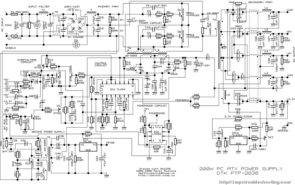 ATXcircuitdiagram1 atx motherboard power on circuit fazil info atx power supply wiring diagram at aneh.co