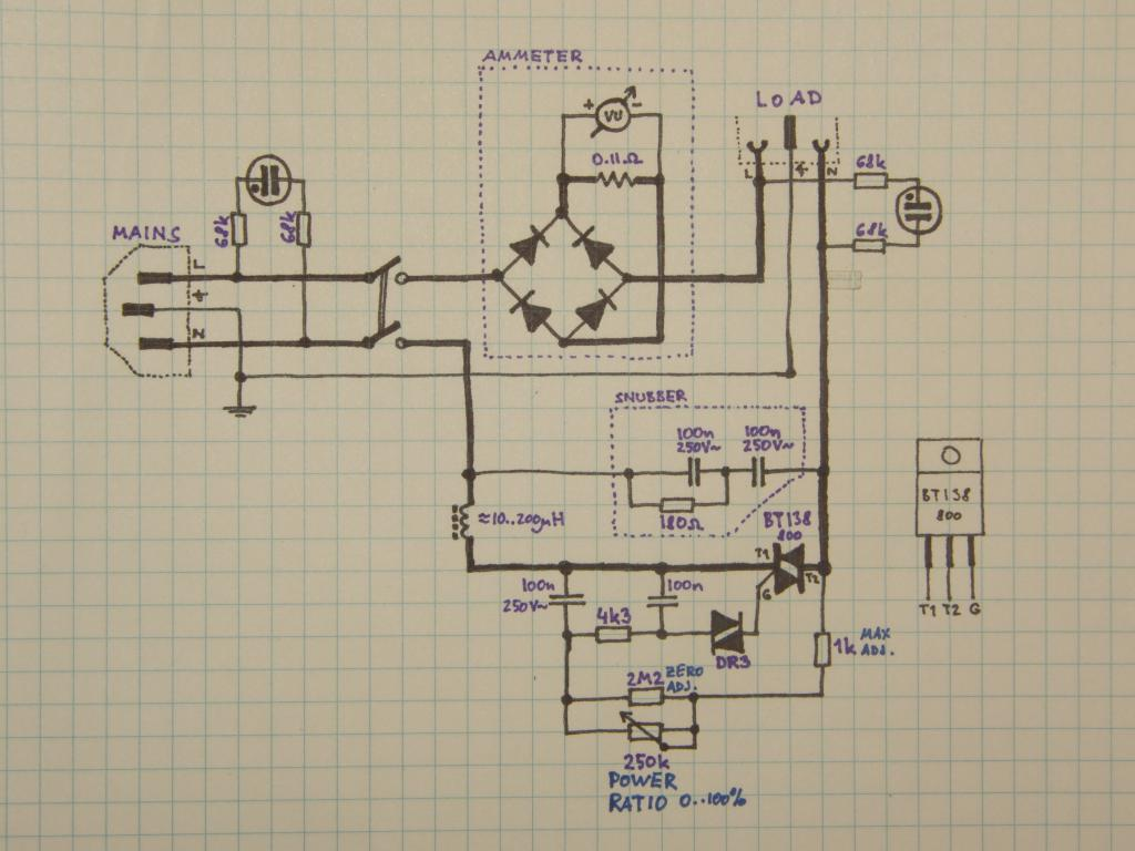 Triac Dimmer Circuit Schematic Search For Wiring Diagrams Ac Switch Control With Optotriaccircuit Diagram Page 3 Other Circuits Next Gr Projects