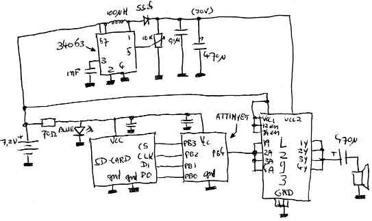 doorbell circuit - schematic