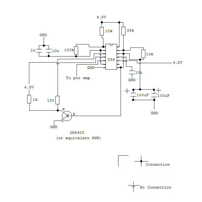 Siren circuit with 556 timer