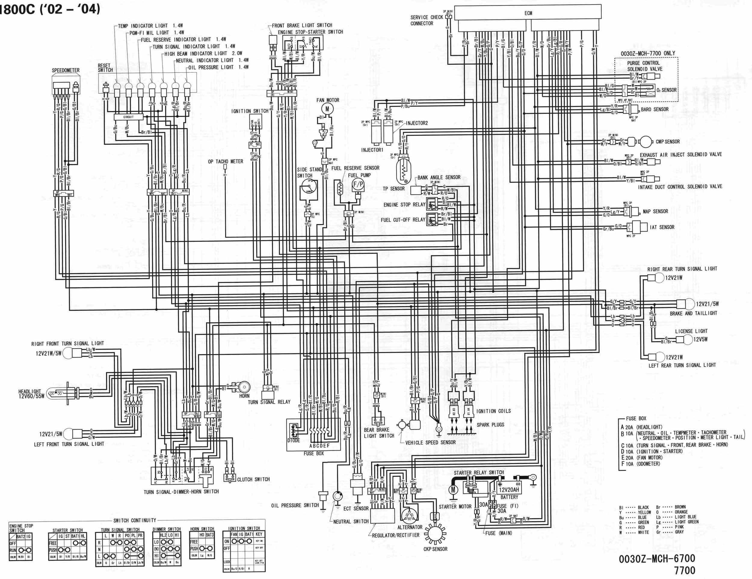 Wiring Diagram For A 2004 Honda Vtx 1300 C on 1100 Honda Shadow Wiring Diagram
