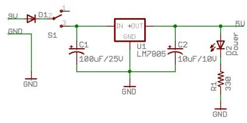 Beginning Embedded Electronics - 1 - schematic