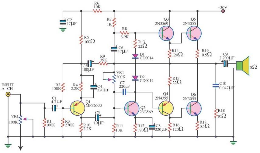 Lifier Circuit Diagram Likewise Transistor Radio Schematic