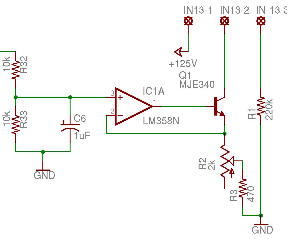 nixie music visualizer - schematic