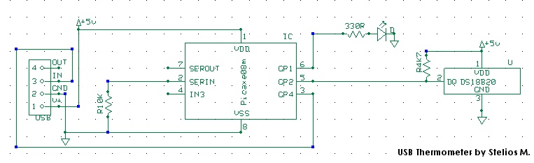 USB Thermometer - schematic