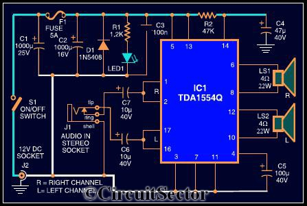 Stereo  lifier Schematic further Push Pull  lifier Schematic further Simple Bridge  ponents Diagram in addition Voltage  lifier Circuit Schematics further Integrated Lifier Schematic. on tda2822 stereo lifier circuit