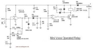 relay circuit page 5 automation circuits next gr mini voice operated relaycircuit · this is the circuit diagram