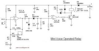 Mini Voice Operated RelayCircuit - schematic