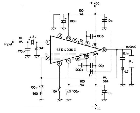 Stk Amplifier - schematic