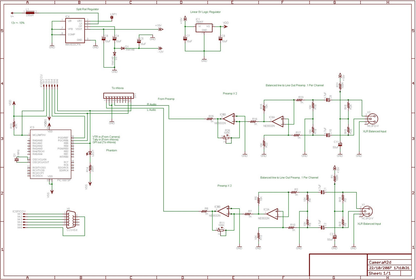 Homebrew tapeless camera - schematic