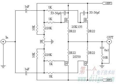 Minimalist Mosfet Power Amplifiers - schematic