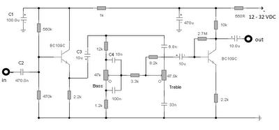 circuits \u003e audio tone control 2 transistor circuit l31688 next graudio tone control 2 transistor circuit