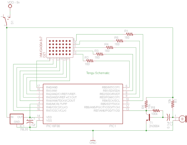 PIC 16F88 Microcontroller PIC based Tengu - schematic