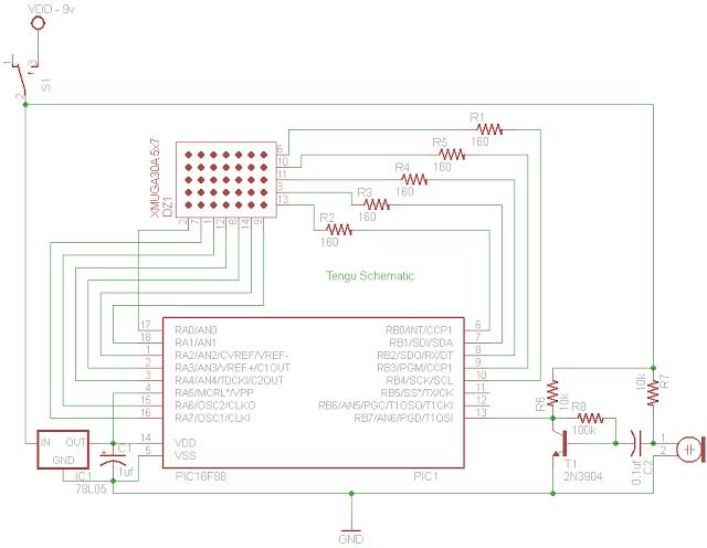 PIC 16F88 Microcontroller PIC based Tengu - schematic