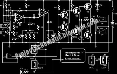 intercom circuit using fader - schematic