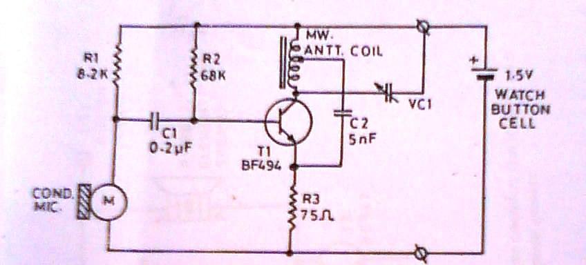 ultra miniature transmitter - schematic