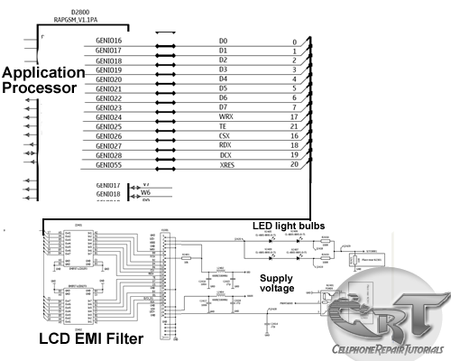 How LCD Display Interface Circuit works - schematic