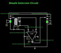 Simple Intercom Circuit - schematic