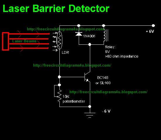 Laser Barrier Detector - schematic