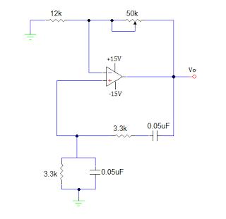 OP AMP SINE WAVE GENERATOR CIRCUIT - schematic