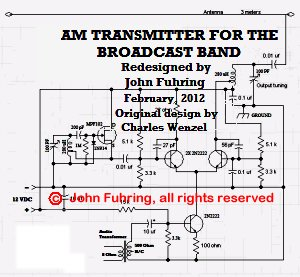 how to build your own am transmitter - schematic