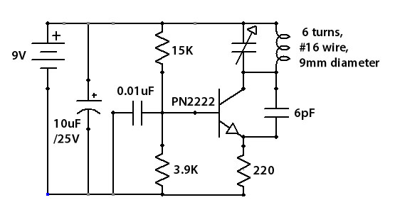 tiny fm tv jammer - schematic