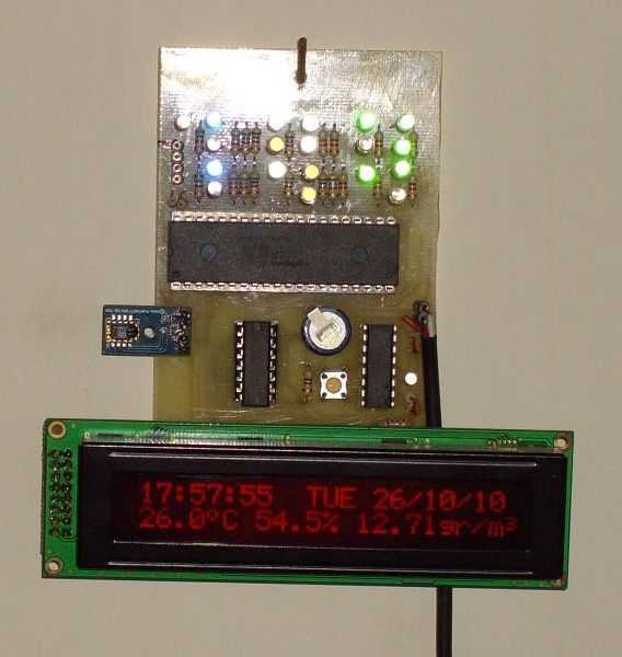 Digital clock with thermometer and hygrometer - schematic